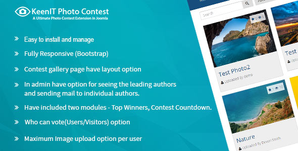 Photo Contest Joomla Extension (codecanyon)